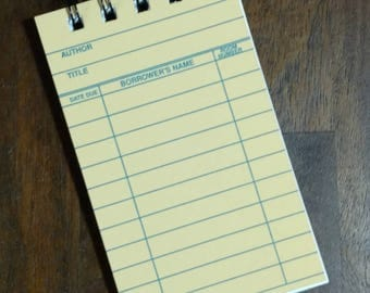 Yellow Library Card Notebook