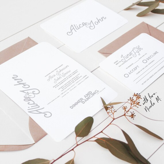Standard Wedding Invitations