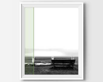 Beach Decor, Beach Photography, Beach Photo, Beach Wall Decor, Office Decor, Office Wall Art, Black And White Photography, Photography Art
