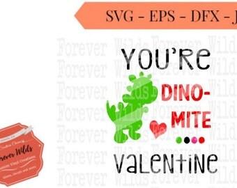 dinosuar valentine svg - dinomite valentines svg - valentines day svg - boys valentine svg - 1st valentine svg -valentines- iron on download