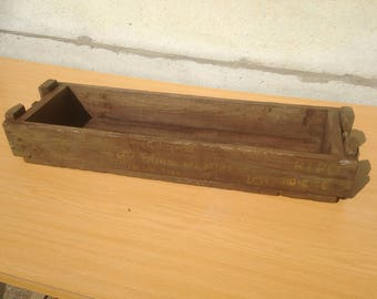 Old military ammunition army #7 Vintage wooden crate