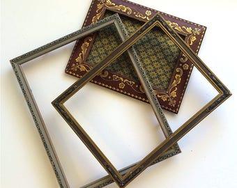 Edwardian Era Picture Frames, Set of Three