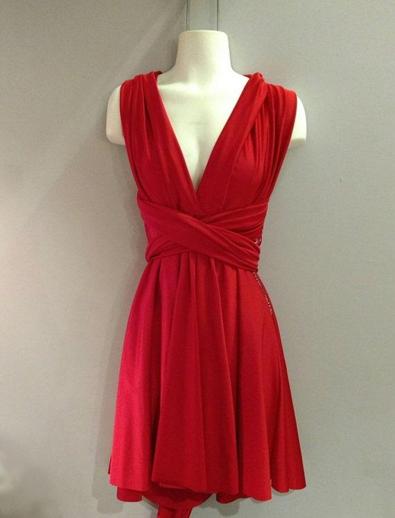 SALE : Convertible Dress / built in bandeau / plus size