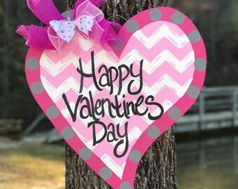 Happy Valentines Day Heart door hanger