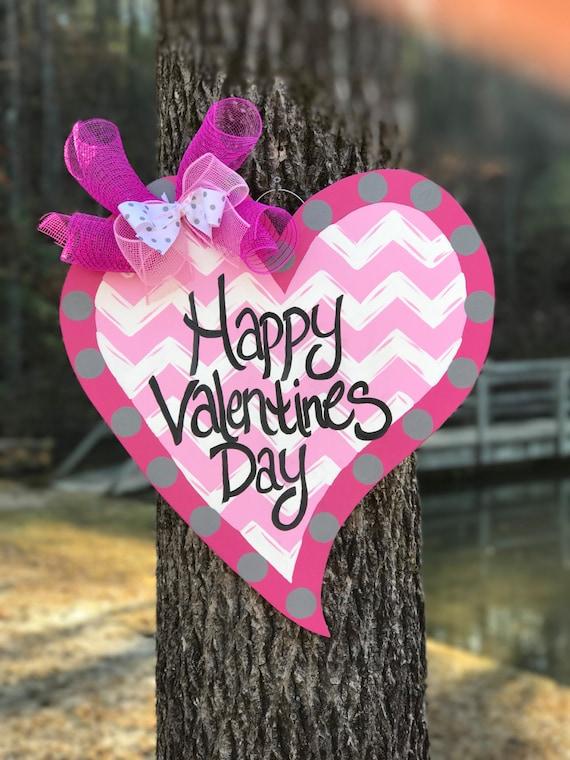valentines happy door hanger heart