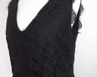 Vintage dress Day Birger Mikkelsen 90s black lace evening cocktail  dress size small
