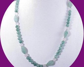Vintage Jade Bead Necklace Single Strand Neckace Vintage Jewelry