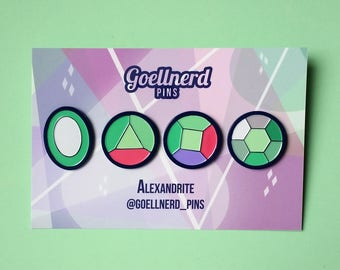 Steven Universe Alexandrite Gem Soft Enamel Pin Set
