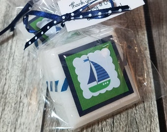 Nautical Baby Shower Favors - Sailboats - baby Shower Favors Boy - nautical baby shower decorations