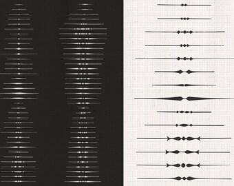 Art Deco Graphic Design Elements Text Separators Paragraph Dividers Printable High Resolution Clip Art FD1