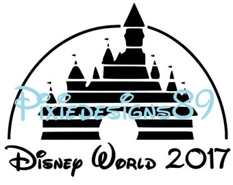 Walt Disney Pictures Castle - 'Disney World 2017' - INSTANT DOWNLOAD Iron On T-Shirt Transfer