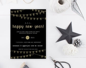 New Years Eve Party Invitation, New Years Party Invitation, 2017, Happy New Year, Printable New Years Party Invitation, Happy New Year [119]