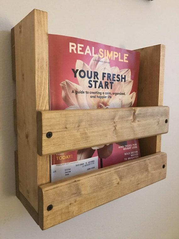 Wood Magazine Rack ~ Magazine rack wall mounted wood