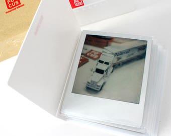 Polaroid Photo Album White Double Film Holder for Polaroid FP-100c Fujfilm Instax Wide Polaroid 600 Films of PX70 PX680 PX600 PX100 600