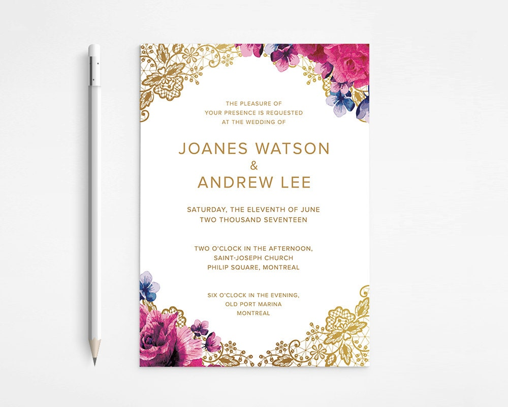 Diy Printable Wedding Invitations is great invitations ideas