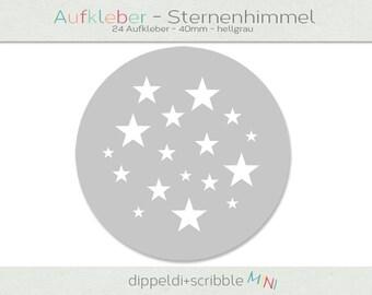 Sticker baby star grey