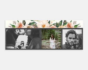 Vintage Floral - Facebook Timeline Cover Template for Photographers Bloggers Boutiques Small Business Personal Pages - Digital Download