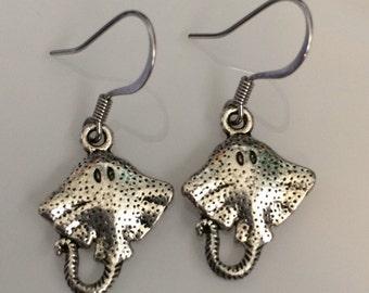 Manta Ray Sting Ray Earrings