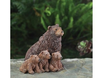 Fairy Garden  - Bear Family - Miniature