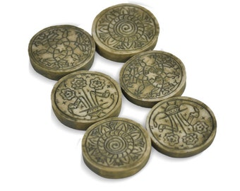 Ancient Round Stepping Stones Set of 6