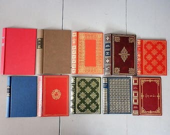 Set of 10  ephemera book cover for book bindings project diary or recovery back cover or secret box