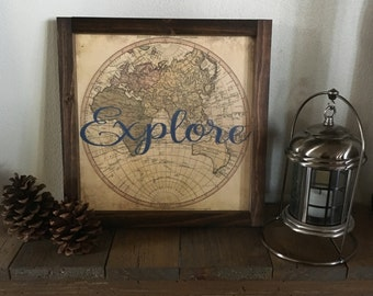 Explore Map Decor
