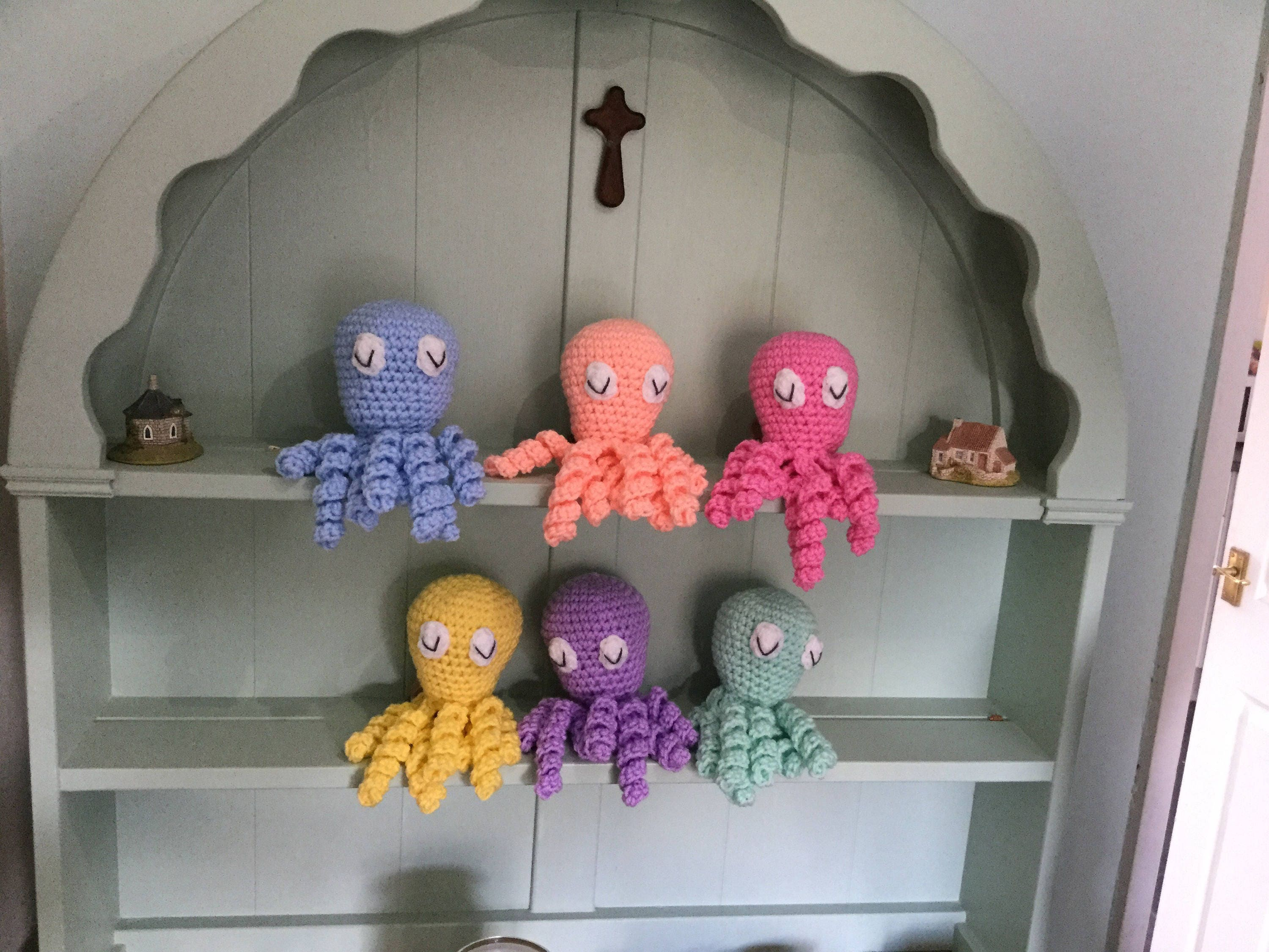 Octopus shower curtain etsy - Preemie Premature Baby Octopus Toy With Comfort Tentacles Prem Baby Comfort Toy Handmade Crochet Toy Octopus Knitted Octopus