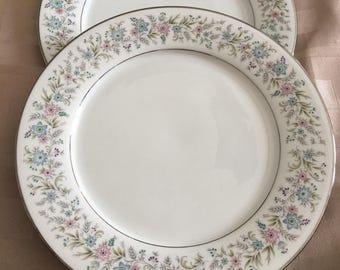 Two Noritake Dinner Plates - Contemporary Dinner Plates - Noritake Blythe 2037 Plates - Vintage Dinner & Mid Century PLATES x 6 Vintage 1960\u0027s NORITAKE Dinner
