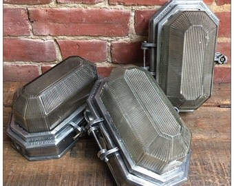 Industrial Vintage 1950s Wardle Factory Bulkhead Light