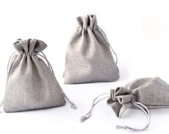 Hemp Bag/Jewelry Gift Bag Chain Hand String(Size: 12.5x10mm)-WEN543355365694-GVN