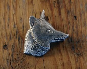 Fox Head Brooch