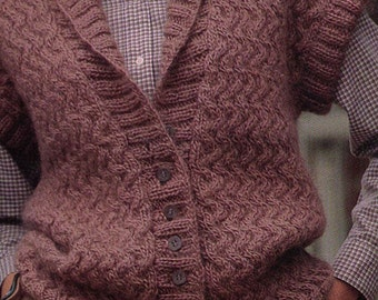 PDF Women Knit Vest Pattern  Small, Medium, Large Instant Download