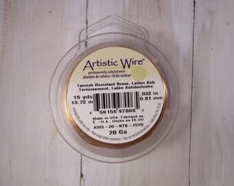 Artistic Wire - 20 gauge - Tarnish Resistant Brass - 15 yards