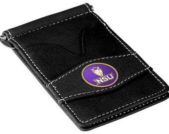 Northwestern State Demons Black Leather Wallet Card Holder
