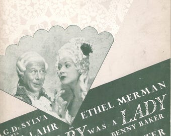 Du Barry Was A Lady COLE PORTER 1939 Do I Love You?  Vintage Sheet Music