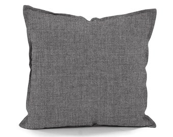 "OUTDOOR Pillow cover, Sunbrella Cast Slate decorative Fabric Pillow with 1/2"" Stitch Detail all around, Sunbrella Fabric for outdoor"