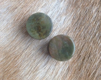 Indian Agate Ear Plugs 3/4""