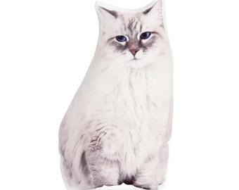 Siberian cat, Cat Cushion, Cat Pillow, Stuffed Cat, Cat Lover, Cat Gift, Country Home Decor, Gift For Mum, Pets, Cat, I Love Cats, Cute Cat