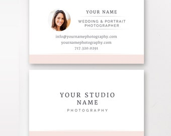 Business Card Template, Photography Business Cards, Photography Marketing Templates - INSTANT DOWNLOAD