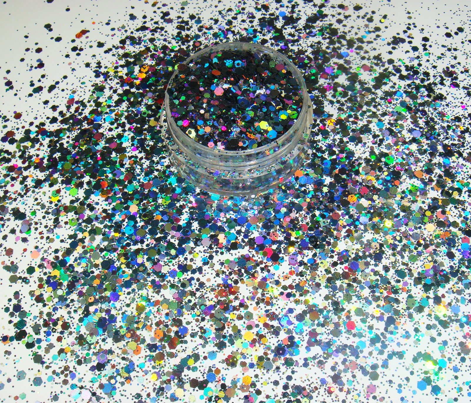 Laser Holographic Glitter Face Painting