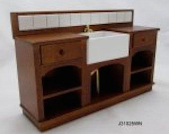 1:12 scale miniature dollhouse kitchen sink JBM J31025wn