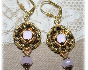 Earrings Collection Antique, gold, bronze, Parma, inspiring medieval, renaissance