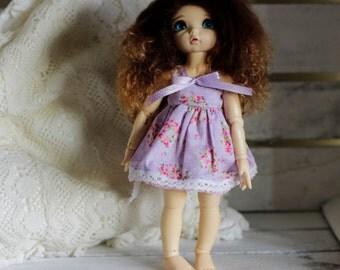 Purple roses dress