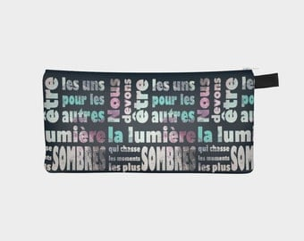 Fabulous shoes pencil case, shoe motif make-up bag, black and gray small bag designed by Felicianation Ink