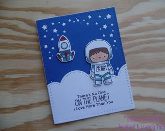 Space card- Love card- Sympathy card- Handmade