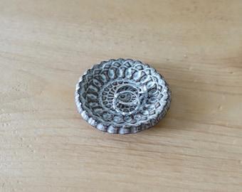 Mini Ring Dish, Jewelry Dish - Gray