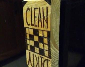 Cedar Wood Crossword Clean/Dirty Dishwasher Magnet