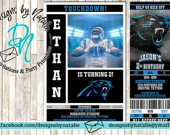 Carolina Panthers Football Invitation