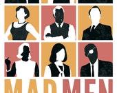 Mad Men Illustrated Poster Art Print