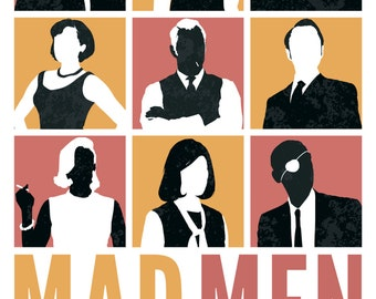 Mad Men Illustrated Poster Art Print